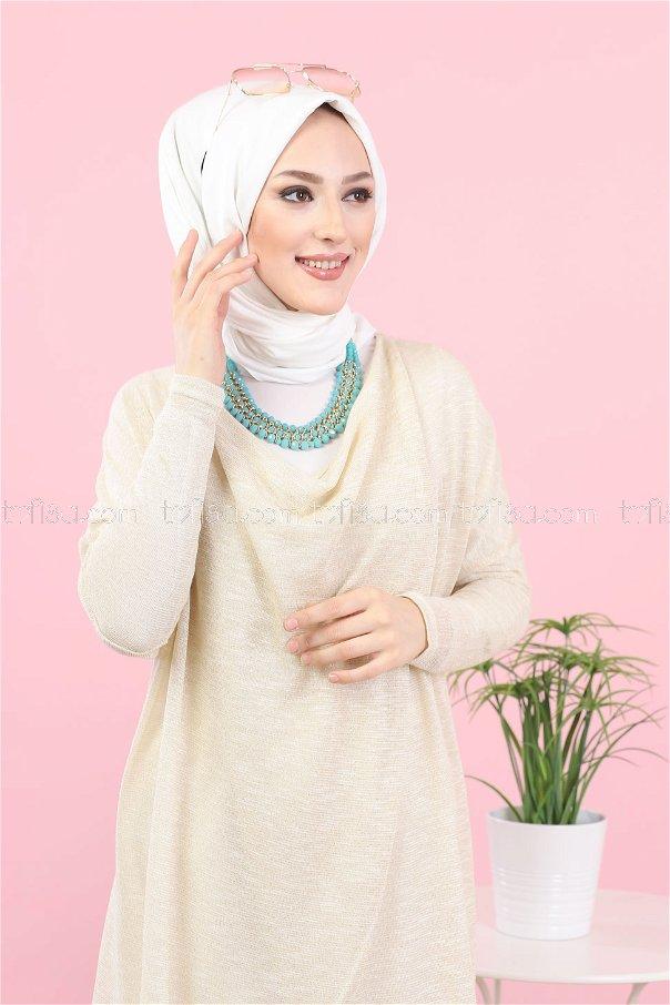Yarasa Tunik Bej - 3092
