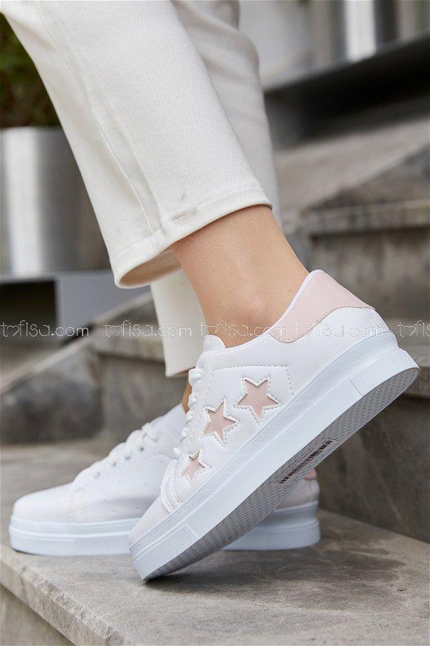 Yıldız Ayakkabı BEYAZ PUDRA - 20147