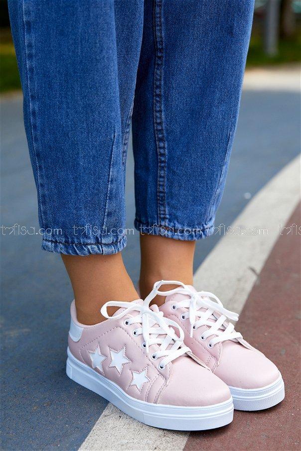 Yıldız Ayakkabı PUDRA BEYAZ - 20147