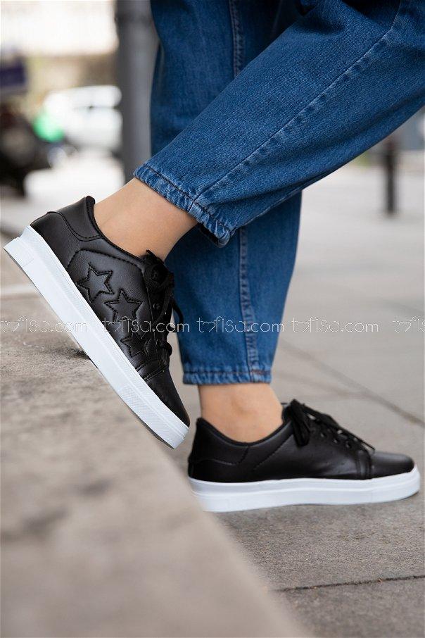 Yıldız Ayakkabı SIYAH SIYAH - 20147