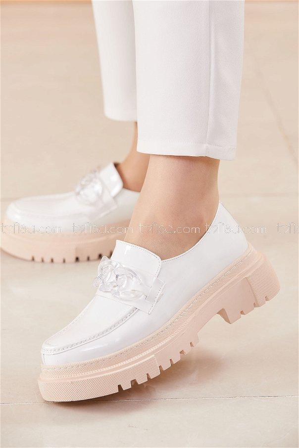 Yuksek Taban Ayakkabı BEYAZ - 20682