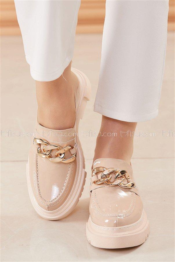 Yuksek Taban Ayakkabı KREM - 20682