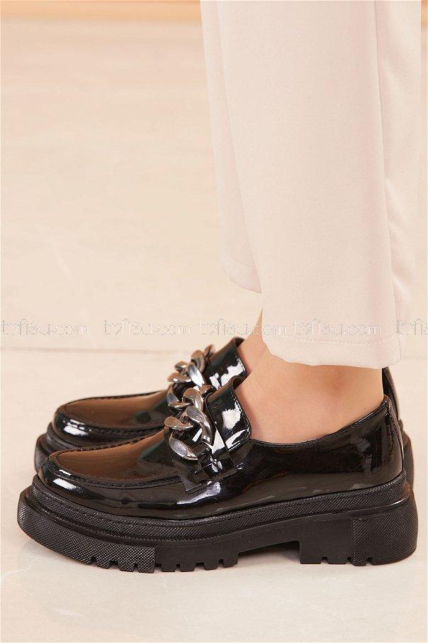 Yüksek Taban Ayakkabı PARLAK SIYAH - 20682