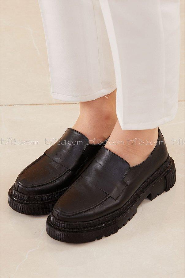 Yuksek Taban Ayakkabı SIYAH - 20662