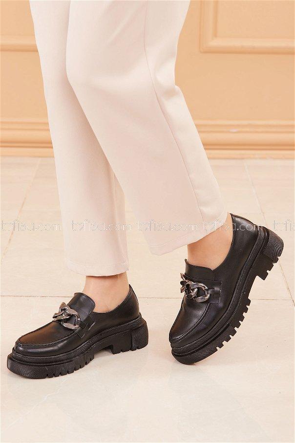 Yüksek Taban Ayakkabı SIYAH - 20682