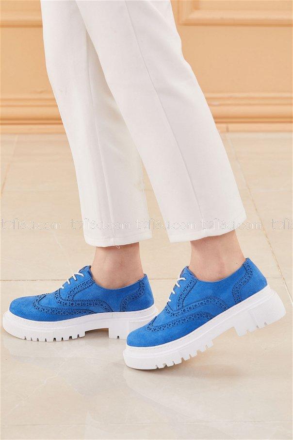 Yuksek Taban Suet Ayakkabı SAKS - 20660