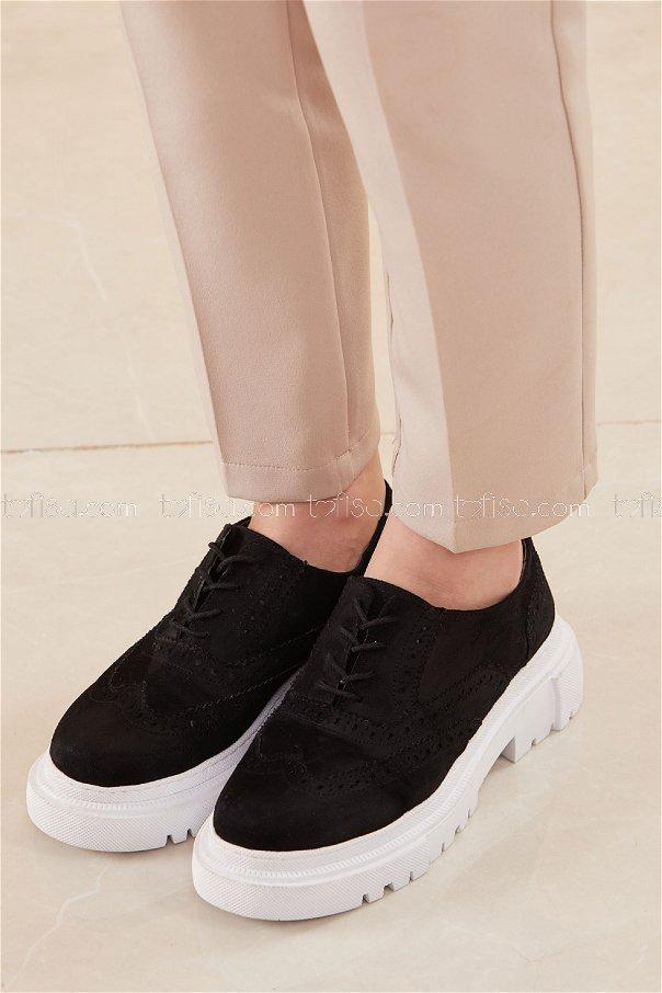 Yuksek Taban Suet Ayakkabı SIYAH - 20660