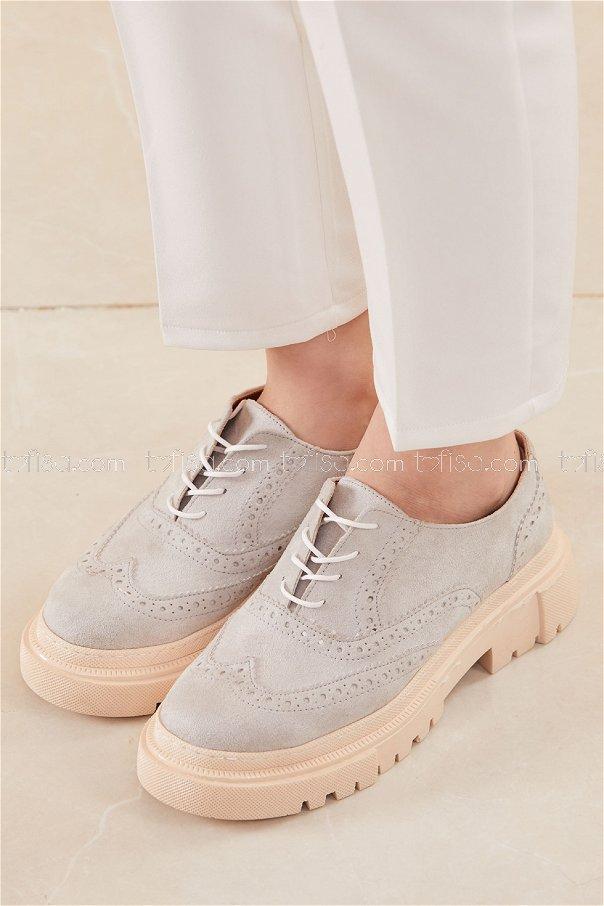 Yuksek Taban Suet Ayakkabı TAS - 20660