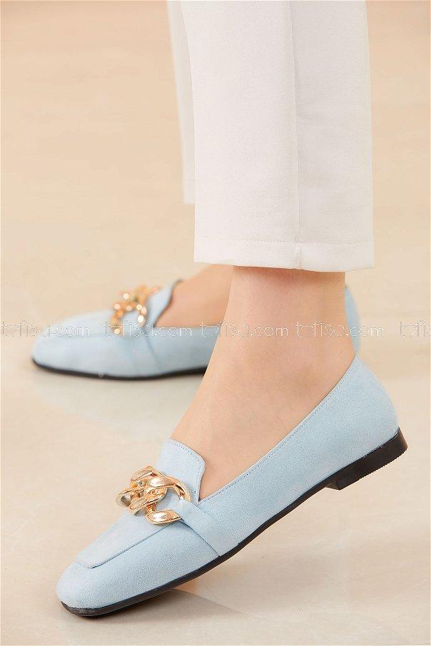 Zıncırlı Babet Ayakkabı BEBE MAVI - 20590