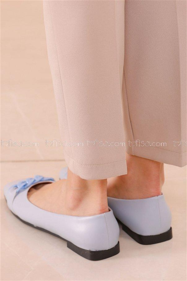 Zıncırlı Babet Ayakkabı BEBE MAVI - 20626