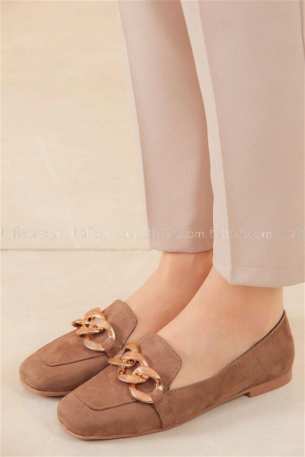 Zıncırlı Babet Ayakkabı KAHVE - 20590