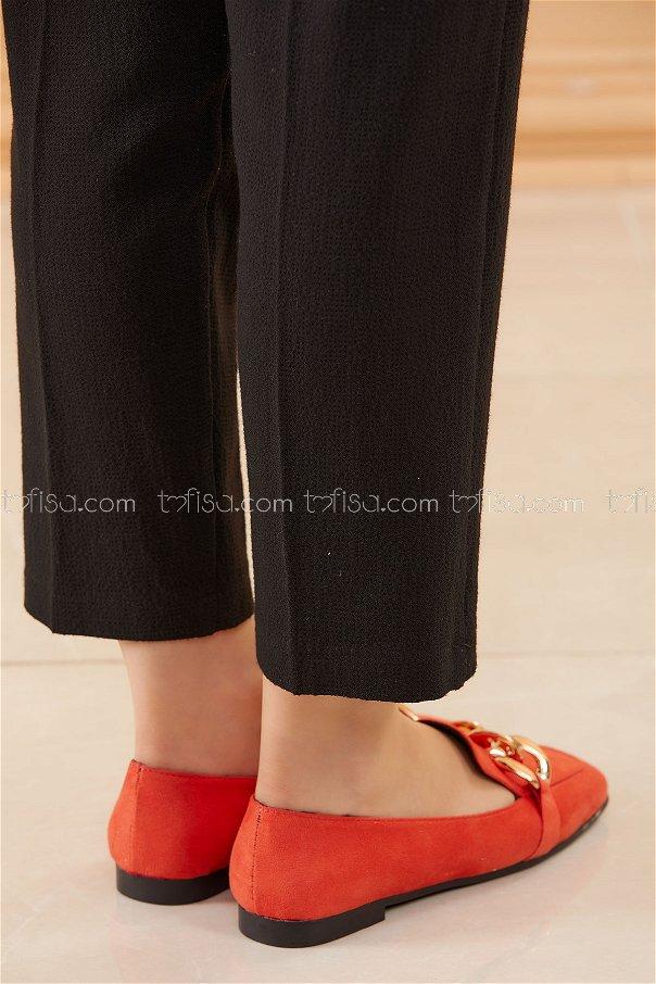 Zıncırlı Babet Ayakkabı ORANGE - 20590