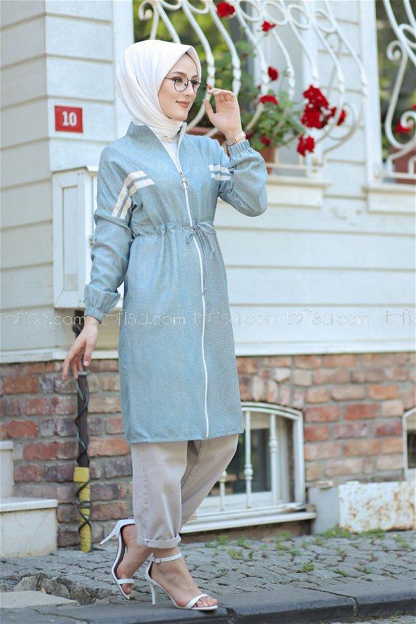 Zippered Cap Blue - 3064